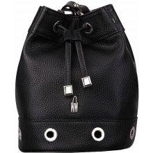 34622d814 Wojewodzic dámska vrecovitá kožená kabelka čierna 31809