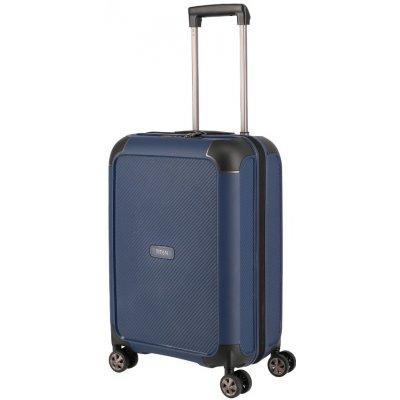 cestovny kufor Titan kufr Compax 4W S USB 844406-20 modrá 43l