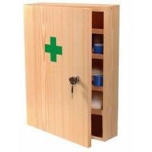 Steriwund lekárnička nástenná drevená veľká prázdna 40 x 33 x 14 cm