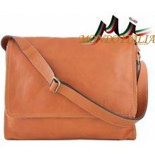 Made In Italy kožená taška cez rameno 685 koňak c10053379b5