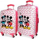 2a24354d34 JOUMMABAGS ABS cestovné kufre Mickey a Minnie Dots SADA 35 l 62 l