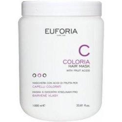 Euforia Coloria ochranná maska pre farbené vlasy s ovocnými kyselinami 1000 ml