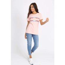 1df5211a8dc5 REBEL dámske tričko s krátkym rukávom a potlačou Ružové