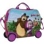 JOUMMABAGS Detský kufrík na kolieskach Máša a Medveď 25 l