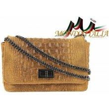 768d397f8b Made In Italy kožená kabelka kroko štýl 439 koňak