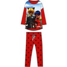 MIRACULOUS LADYBUG Dievčenské bavlnené pyžamo KÚZELNÁ LIENKA (LB03010) - 8 rokov (128cm), 10 rokov (140cm)