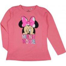 E plus M Dievčenské tričko Minnie - ružové