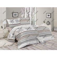 Matějovský obliečky Snow zimný motív bavlna 140x200 70x90