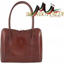 233e4ac7cb Made In Italy kožená kabelka 8010 hnedá