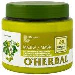 O'Herbal maska pre krepovité a nepoddajné vlasy s chmeľovým extraktom 500 ml
