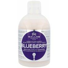 Kallos Blueberry čučoriedkový šampón pre suché poškodené a chemicky ošetrené vlasy 1000 ml