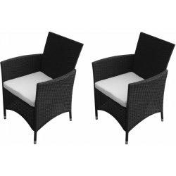 6abd8d5a0bc16 Záhradná ratanové čierne stoličky 2 ks V1757 Dekorhome alternatívy ...