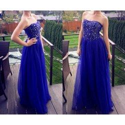 f61c0535ee02 Modré spoločenské šaty s kamienkami alternatívy - Heureka.sk
