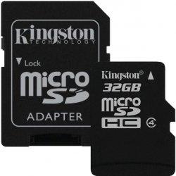 Kingston microSDHC 32GB + adapter SDC4/32GB