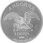 Eagle Stříbrná investiční mince Andorra 1 Oz
