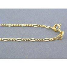 af606ef14 MARM Design Zlatá retiazka žlté zlato vzor figáro VR415250Z