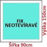 Soft Plastové okno 90x150 cm, FIX neotváravé