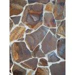 Obkladový štiepaný kameň Andezit dúhový 15-40cm,hrúbka 0-3cm