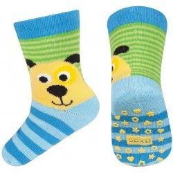 985035d94bd SOXO Chlapčenské protišmykové ponožky so psom farebné alternatívy ...