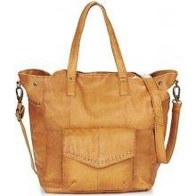 Pieces Vanity Leather Big Bag hnedá