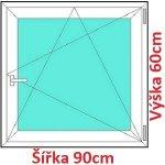 Soft Plastové okno 90x60 cm, otváravé a sklopné