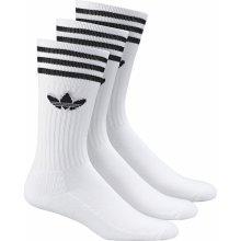 Adidas CREW SOCK SOLID 3 PACK biela