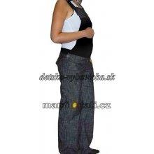 Nohavice na traky čierny melír
