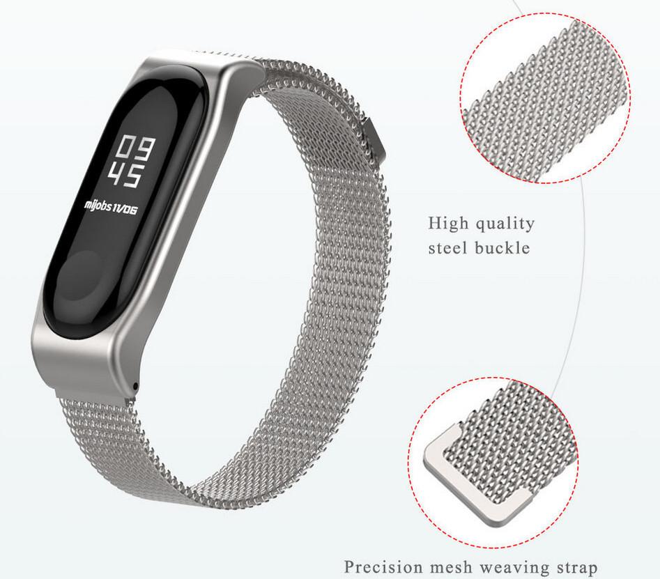01c97525c Príslušenstvo k wearables Xiaomi Mi Band 2 kovový magnetický náramok ...