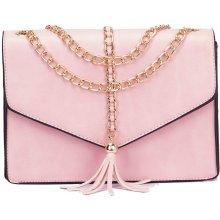 482f2e1e8ef7 Zazza Ružová kabelka s reťazou v zlatej farbe