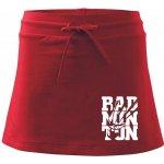 Bedminton nápis športová sukňa Two in One červená e3a2dde3a0b