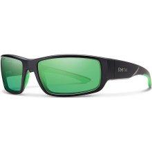 Smith Survey/S - Matte Black/Polarized Green Mirror