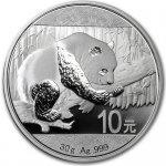 Panda Stříbrná mince 10 Yuan China 30g 2016