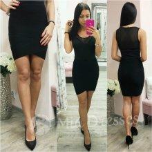 Dámska krátka priliehavá sukňa čierna 5f7c2319118