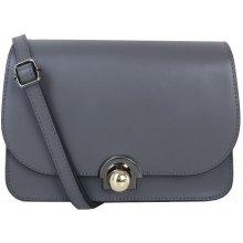 4fee2e788414 Talianska malá kožená kabelka luxusná crossbody sivá Elisa