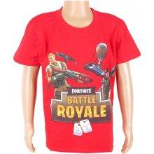 Detské tričko Fortnite Battle Royale červené
