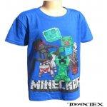 Tričko detské Minecraft modré YC150