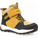 Geox Chlapčenské zimné topánky Orizont žlto-hnedé 1b5ef1ecb43