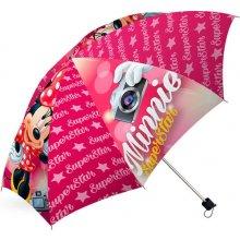 EUROSWAN Skládací dáždnik Minnie SuperStar Polyester, priemer 98 cm