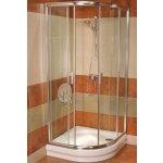 RAVAK Blix Sprchovací kút štvrťkruhový posuvný BLCP4-90 lesk Transparent