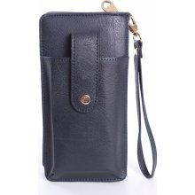 7921cc246 Dámska peňaženka s púzdrom na mobil tmavomodrá