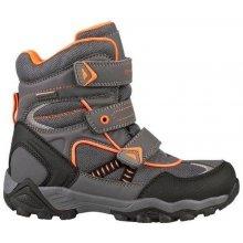 ALPINE PRO Chlapčenské zimné topánky Hayley šedé