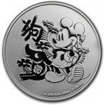 32a13c480 Perth mint Disney Mickey Mouse 1 oz 2018 lunárny Rok psa strieborná  investičná minca