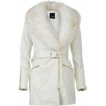 Golddigga Long PU biela Dámská bunda