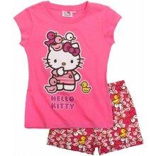Hello Kitty Pyžamo s krátkym rukávom ružová