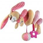 Baby Mix hračka na postieľku špirála Králiček ružová