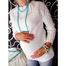 Selin tehotenský svetrík biela