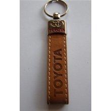 Prívesok na kľúče koženková Toyota(hnedá)