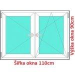 Soft Dvojkrídlové plastové okno 110x90 cm, O+OS