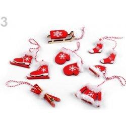 282e53591 Vianočné dekorácie - sane, lyže, korčule, rukavice, čiapky, bundy, ponožky