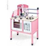 JANOD 06533 Kuchynka drevená ružová MADEMOISELLE MAXI COOKER 78 cm s 8 doplnkami
